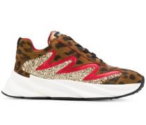 'E2214' Sneakers mit Leoparden-Print