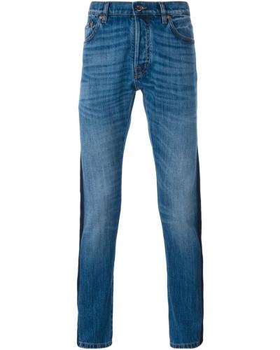 valentino herren schmale jeans mit streifen reduziert. Black Bedroom Furniture Sets. Home Design Ideas