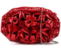 textured origami clutch bag