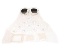Sonnenbrille mit Spitzenbesatz