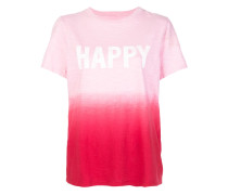 'Happy' T-Shirt mit Batikmuster