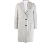 seersucker single-breasted overcoat