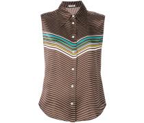 paneled sleeved blouse