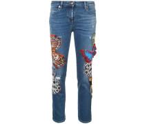 butterfly skinny jeans