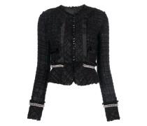 deconstructed tweed jacket
