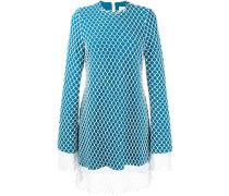 Kleid mit Netzbesatz
