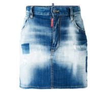 Jeansrock mit Farbeffekt