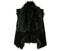 draped fur coat