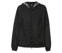 logo-print hooded jacket
