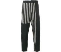 straight leg printed trousers