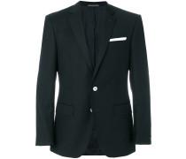 contrast detail blazer