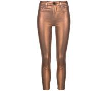 'Margot' Skinny-Jeans im Metallic-Look