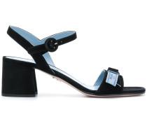 block-heel leather sandals