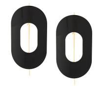 Oversized-Ohrringe mit geometrischem Design