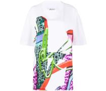 Oversized-Hemd mit abstraktem Print