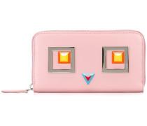 square embellishment zipped wallet