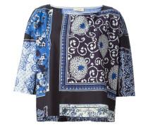 Oberteil mit Schal-Print