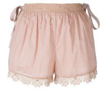 Shorts mit gehäkeltem Saum