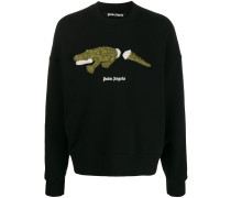 Sweatshirt mit Krokodil-Stickerei