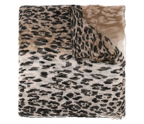 Seidenschal mit Leoparden-Print - women - Seide