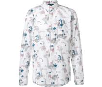 Button-down-Hemd mit Print