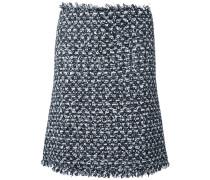 Ungesäumter Tweed-Rock