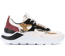 D.A.T.E. Sneakers mit Animal-Print