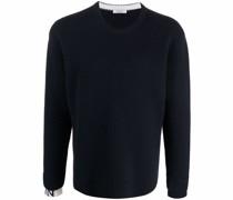 long-sleeve ribbed-knit jumper