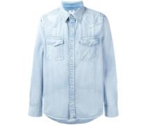 Jeanshemd mit aufgesetzten Taschen