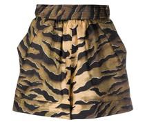 Shorts mit Tigermuster