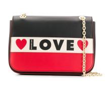 'Love' Schultertasche mit Logo