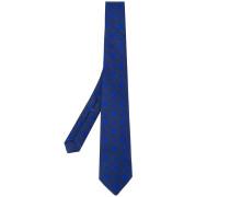 square pattern tie - men - Seide/Leinen/Flachs
