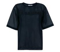 sheer logo print T-shirt