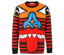 Pullover mit Totem-Print