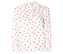 heart and shoe print blouse