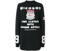 logo patch long sweatshirt