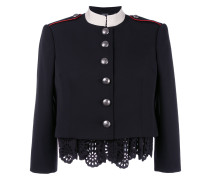 'Military' Jacke mit gewelltem Saum