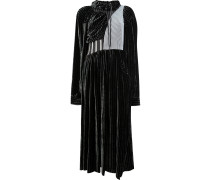 Gestreiftes Kleid mit Kordelzug