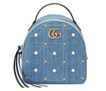 GG Marmont matelassé denim backpack
