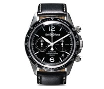 BR V2-94 Black Steel Chronograph, 41mm