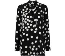 Schluppenbluse mit Polka Dots