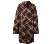 Einreihiger Mantel mit Karomuster