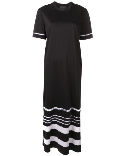 Langes Kleid mit Batikmuster