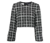 Tweed-Bluse mit Karomuster