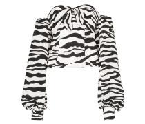 Schulterfreies Oberteil mit Zebramuster