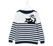 Pullover mit Katzen-Print - kids - Baumwolle