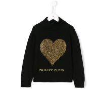 Pullover mit Nieten-Herz