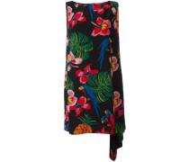 Seidenkleid mit tropischem Print - women