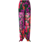floral straight-leg trousers