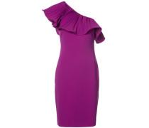 Einschultriges Kleid mit Volants